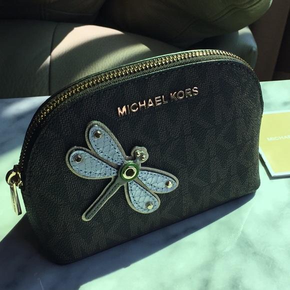 94623104feee Michael Kors Lg Jet Set Travel Cosmetic Bag New